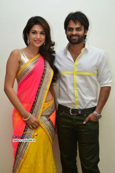 Shraddha Das and Sai Dharam Teja at Rey Audio Launch
