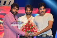 YVS Chowdary, Sai Dharam Teja and Pavan Kalan at Rey Audio Launch