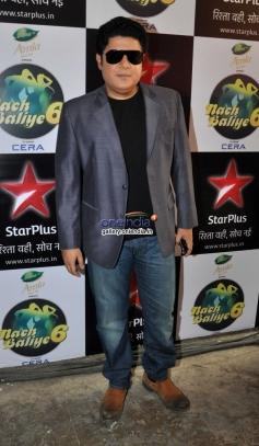 Sajid Khan on the sets of Nach Baliye 6