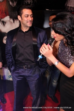 Salman Khan during the Jai Ho film premiere at Dubai