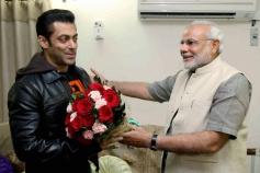 Salman Khan and Narendra Modi during a meeting in Ahmedabad