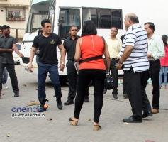 Salman Khan snapped during a photoshoot in various dresses