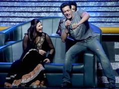 Salman Khan with co-star Daisy Shah on the sets of a Dance India Dance tv show for Jai Ho promotion