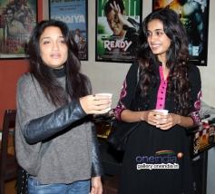 Sandhya Mridul and Sarah Jane Dias at the special screening of American Hustle