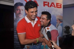 Sangram and Ajaz having fun during the first look launch of Ya Rab