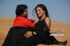 Santosh and Sarayu still from Park Movie