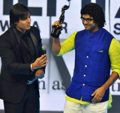 Siddharth Mahadevan after winning the RD Burman Award for Upcoming New Music Talent