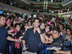Sidharth Malhotra during his film Hasee Toh Phasee promotion at Korum Mall Thane