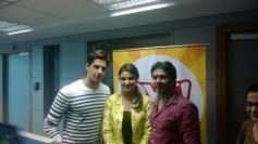 Sidharth Malhotra and Parineeti Chopra promotes Hasee Toh Phasee film on Fever 104 FM