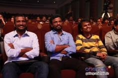 Suseenthiran, Pandiraj and AR Murugadoss at the Raja Rani film 100 days celebration