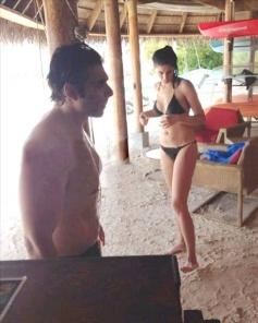 Uday Chopra and Nargis Fakhri holidaying in Maldives