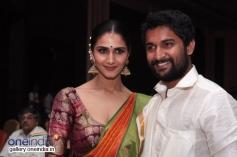 Vaani Kapoor and Nani at the film Aaha Kalyanam audio launch