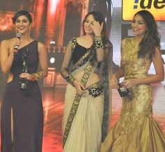 Vaani Kapoor speaks after receiving the Best Debut Female Award for Shuddh Desi Romance