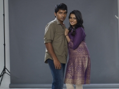 Vaibhav and Remya Nambeeshan still from film Damaal Dumeel