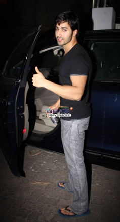 Varun Dhawan at One By Two special screening