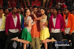 Vijay and Scarlett Wilson still from film Jilla