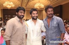 Vijay Sethupathi, Nani and Samuthirakani at the film Aaha Kalyanam audio launch