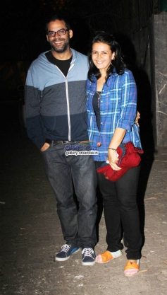 Vikramaditya Motwane with his wife at One By Two special screening