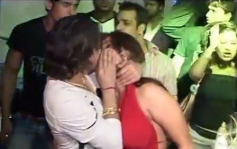 Mika grabbed Rakhi and Kissed her in Public