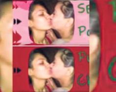 Sara Khan kissed in public