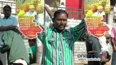 A Fan Showing Dr. Vishnuvardhan Calender at Event