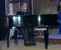 A R Rahman performs during the launch of his music album Raunaq