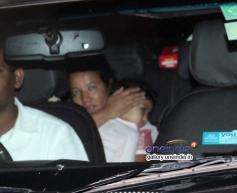 Abhishek Bachchan daughter Aaradhya Bachchan on his 38th birthday bash