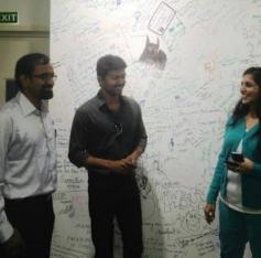 Actor Vijay Visits Facebook