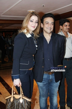 Adnan Sami with wife at launch of AR Rahman and Kapil Sibal album Raunaq
