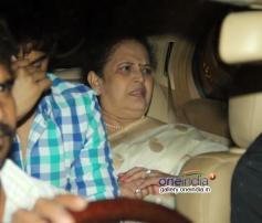 Aishwarya Rai mother Brindya Rai at Abhishek Bachchan 38th birthday bash