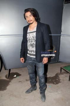 Ali Zafar poses during the promotion of Total Siyapaa at Filmistan Studio