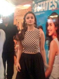 Alia Bhatt arrives at 2 States trailer launch