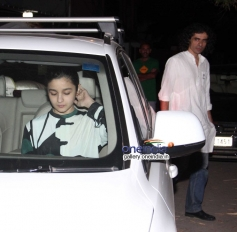 Alia Bhatt and Imtiaz Ali at Highway special screening