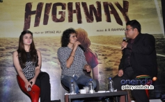 Alia Bhatt and Imtiaz Ali in Bangalore to promote Highway