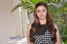 Alia Bhatt poses during her film Highway promotion in Bangalore