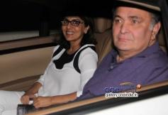 Rishi and Neetu Kapoor at special screening of Highway