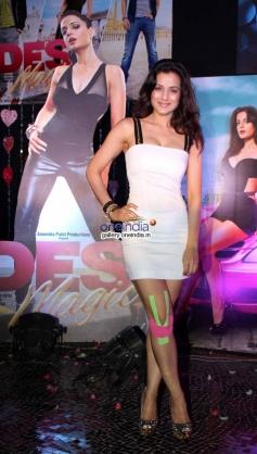 Ameesha Patel poses at first look launch of film Desi Magic