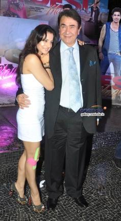 Ameesha Patel and Randhir Kapoor at first look launch of film Desi Magic