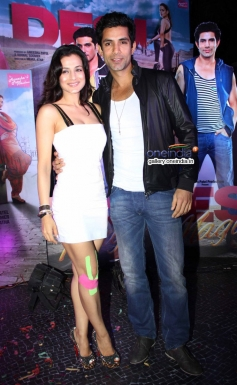 Ameesha Patel and Sahil Shroff at first look launch of film Desi Magic
