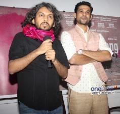 Anand Gandhi and Sohum Shah at press interaction of documentry film Gulabi Gang