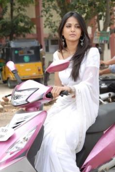 Anushka Shetty still on bike