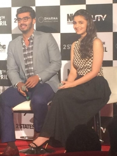 Arjun Kapoor and Alia Bhatt at 2 States trailer launch