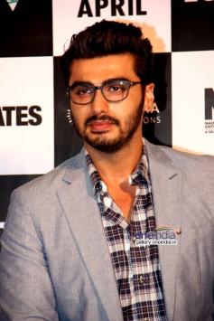 Arjun Kapoor poses at 2 States trailer launch