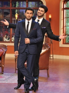 Arjun Kapoor and Ranveer Singh on the sets of Comedy Nights with Kapil