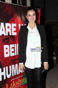 Ayesha Takia at Lakshmi film success bash