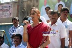 Bharti Vishnuvardhan at Dr. Vishnuvardhan Road inauguration