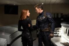 Scarlett Johansson and Chris Evans still from Captain America The Winter Soldier