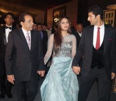 Dharmendra at Ahana Deol's Delhi wedding reception