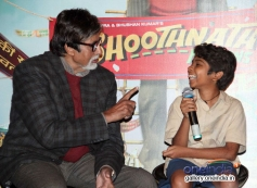 Amitabh Bachchan funny conversation with Parth Bhalerao at Bhoothnath Returns trailer launch