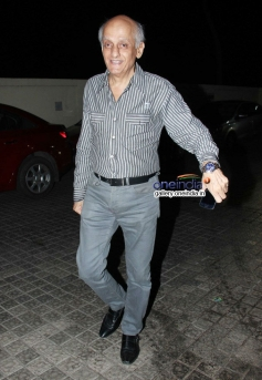 Mukesh Bhatt during the Highway special screening at PVR